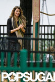 Gisele Bundchen went to a Boston park.