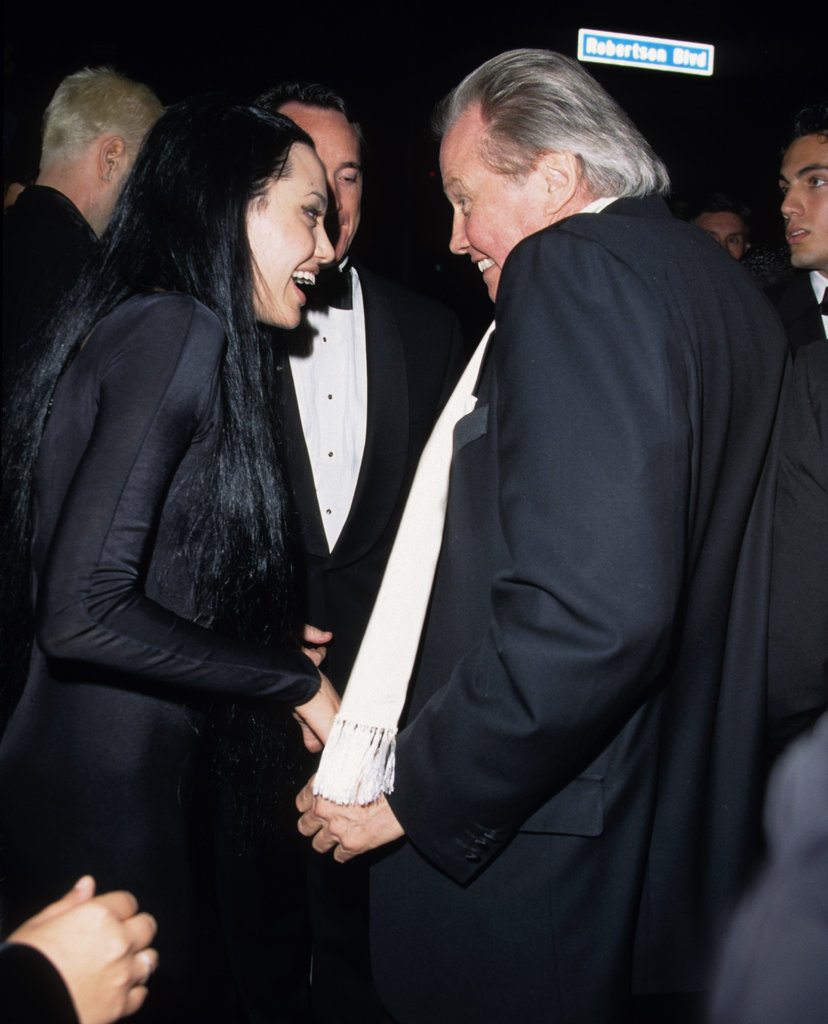 Angelina Jolie celebrated her March 2000 Oscar win for Girl, Interrupted with brother James Haven and dad Jon Voight in LA.