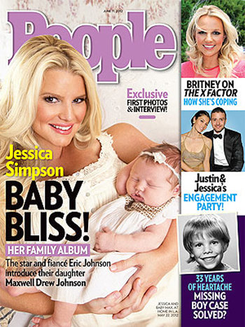 The first images of Jessica Simpson's daughter, Maxwell Johnson, were revealed on the cover of People.