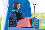 """We live in a culture, after all, that tells us that our lives should be easy — that we can have everything we want without a whole lot of effort. But the truth is, and you know this: Creating anything meaningful takes time."" — Michelle Obama at George Washington University (2010)"