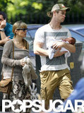 Elsa Pataky and Chris Hemsworth stepped out in London with India.