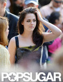 Kristen Stewart played with her hair at the Today show in NYC.