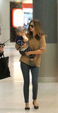 Miranda Kerr and Flynn Bloom landed at the Sydney airport.