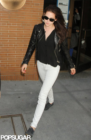 Kristen Stewart stopped by Live with Kelly in NYC.