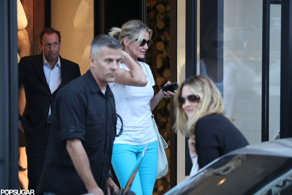 Cameron Diaz was by Drew Barrymore's side for her final dress fitting in LA.