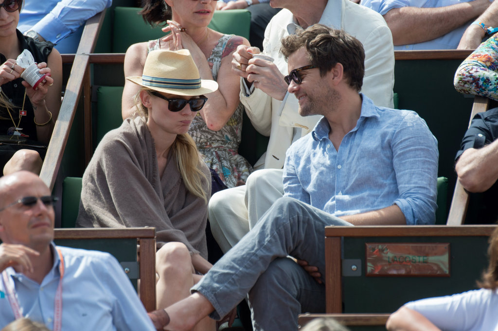 Diane Kruger and Joshua Jackson sat courtside at the French Open.