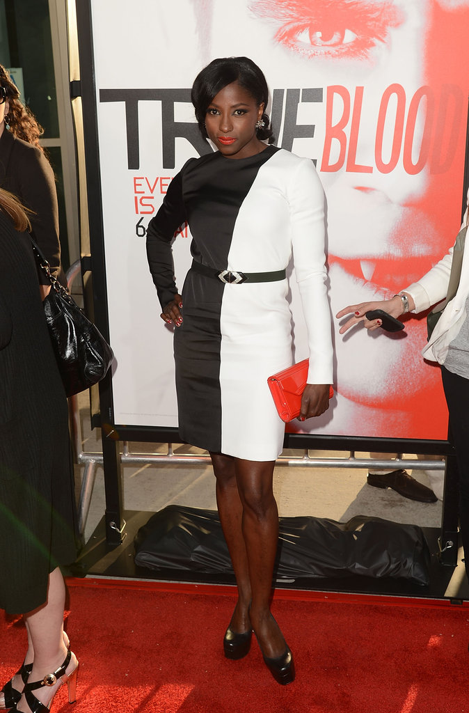 Rutina Wesley rocked a black and white dress to the season five premiere of True Blood.