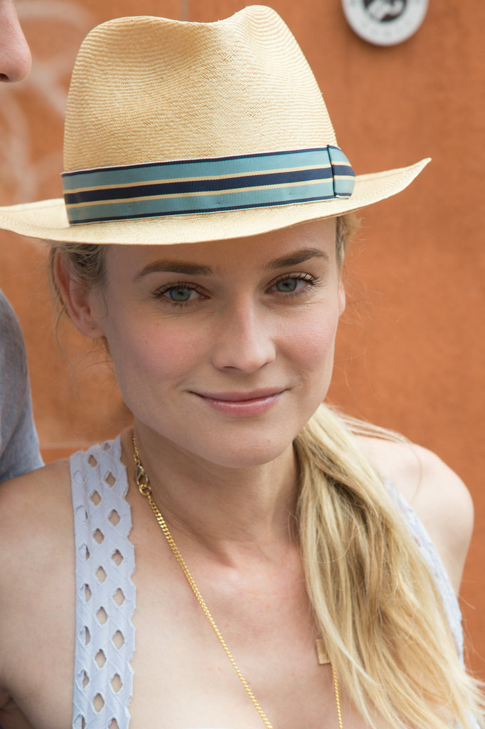 Diane Kruger wore a fedora in Paris.
