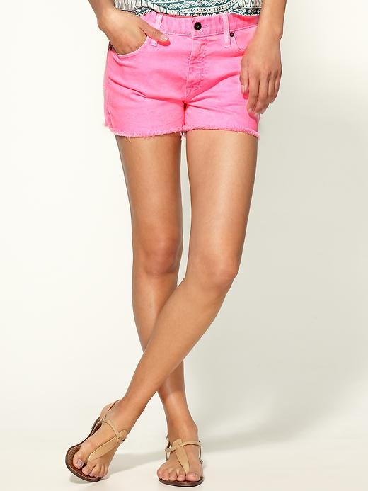 """Normally, I would never go for bright pink anything, but how can I resist these Pepto-hued shorts? They're eye-catching without being too loud, and with the addition of a semisheer white t-shirt, these shorts will make a casual outfit pop."" — Marisa Tom, associate editor  Big Star Joey Shorts ($69)"