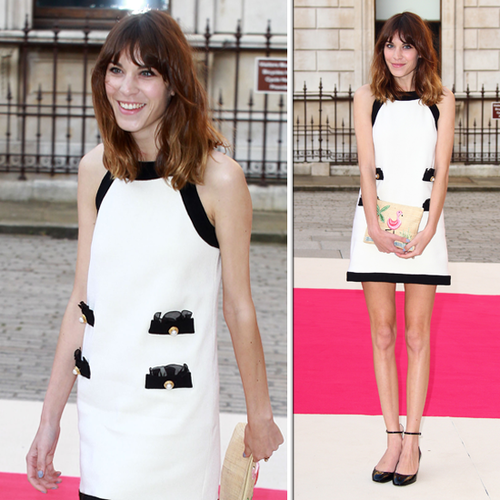 See How Alexa Chung Goes Ladylike in Black and White!