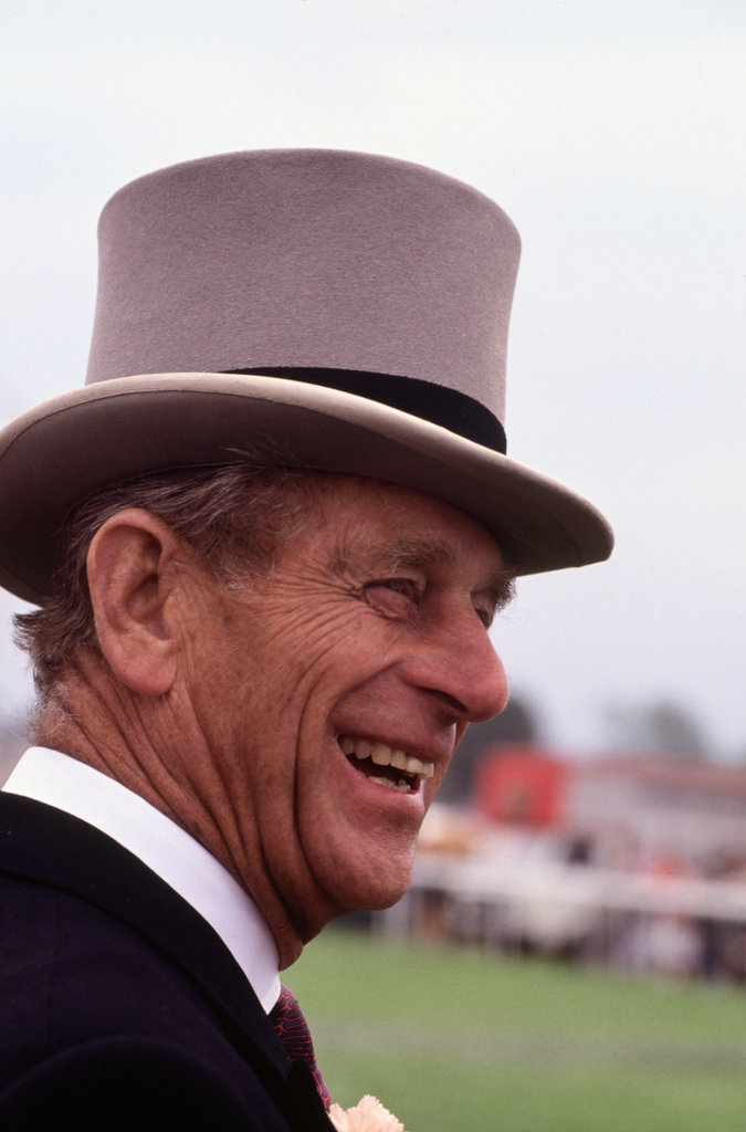 The Duke of Edinburgh was all smiles at the 1993 Epsom Derby.