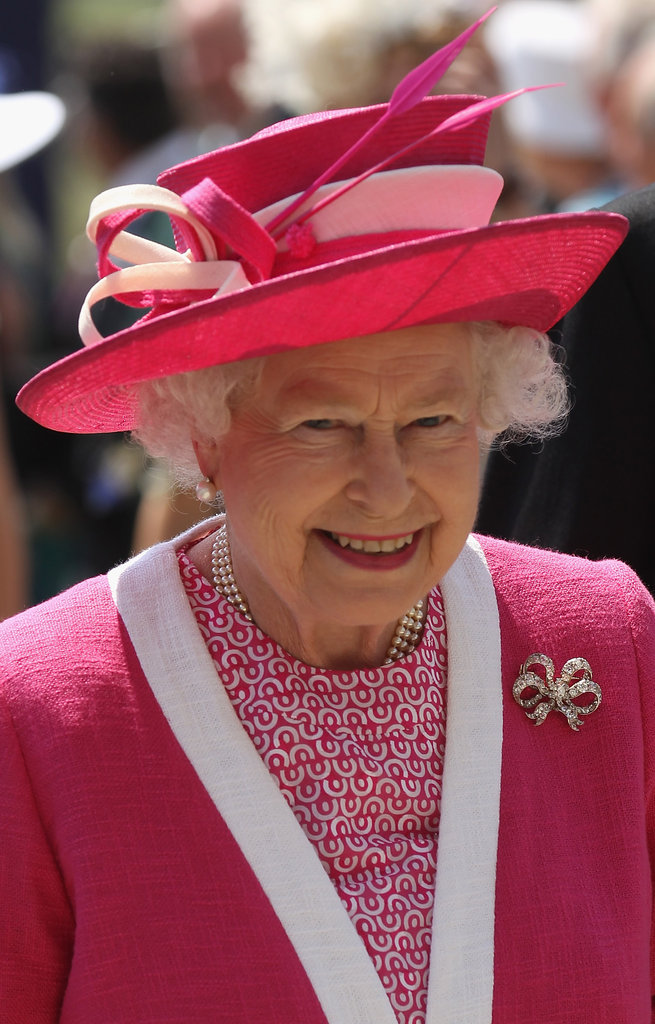 Queen Elizabeth II went bold and bright for the 2011 Epsom Derby.