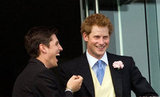 Prince Harry laughed with his friend at the 2011 events.