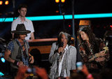 Aerosmith celebrated Johnny Depp's generation award.