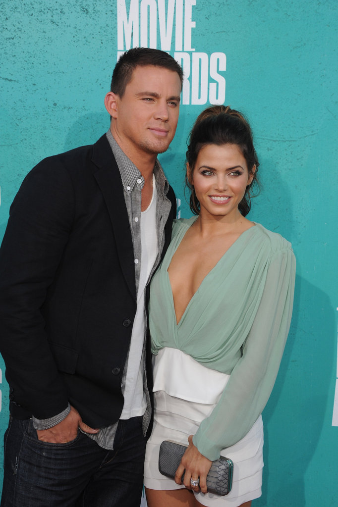 Channing Tatum and Jenna Dewan posed at the MTV Movie Awards.