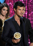 Taylor Lautner looked handsome as ever.