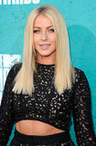 Julianne Hough wore a black lace number on the red carpet at the MTV Movie Awards.