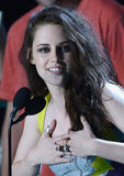 Kristen Stewart Gives and Gets Honours at the MTV Movie Awards