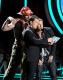 Joe Manganiello, Channing Tatum and Matthew McConaughey joked around on stage.