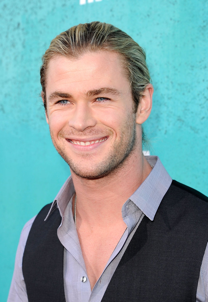 Chris Hemsworth smiled for the camera.