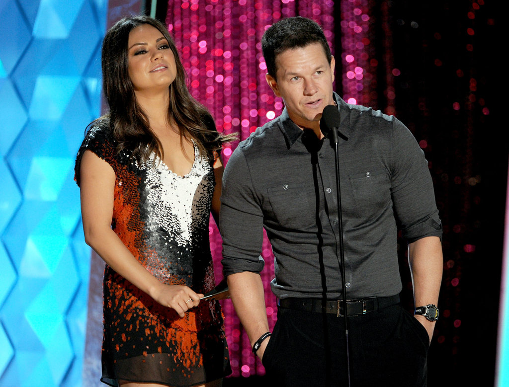 Ted co-stars Mila Kunis and Mark Wahlberg teamed up during the show.