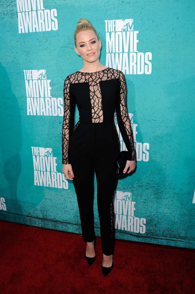 Elizabeth Banks wore Elie Saab to the MTV Movie Awards.
