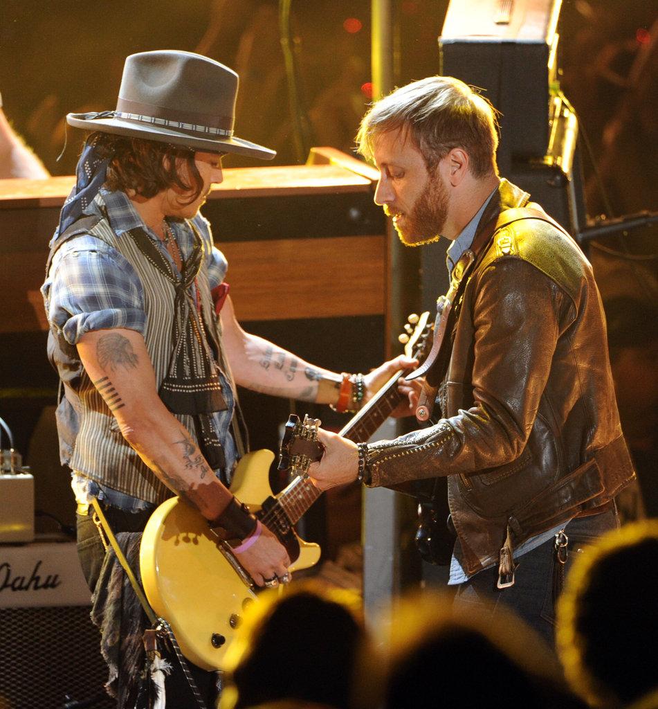 Johnny Depp played guitar with The Black Keys at the MTV Movie Awards.