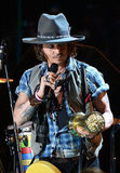 Johnny Depp accepted his award at the MTV Movie Awards.