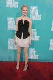 Emma Stone walked the red carpet at the MTV Movie Awards.