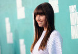 Jessica Biel looked stunning with her straight hair and bangs.