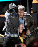 Johnny Depp performed with The Black Keys at the MTV Movie Awards.