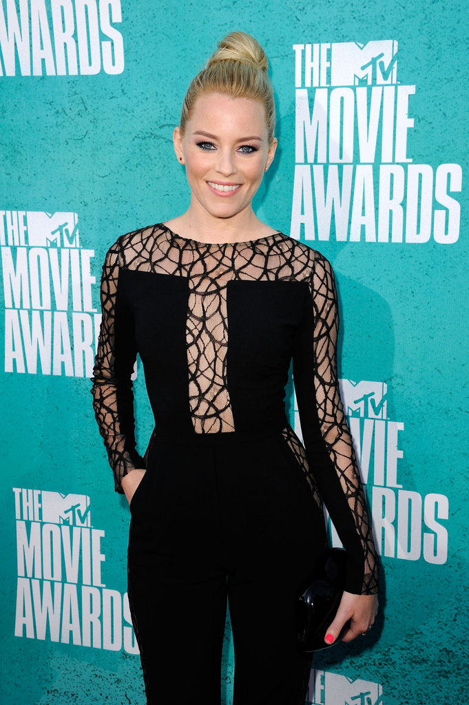 Elizabeth Banks arrived at the MTV Movie Awards.