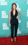Shailene Woodley wore black at the 2012 MTV Movie Awards.