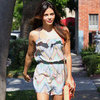 Jenna Dewan Colorful Ruffle Romper