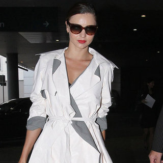 Miranda Kerr Trench Coat Pictures at Airport