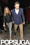Stella McCartney and her husband were out and about with David Beckham in London.