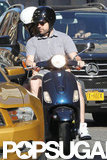 Jason Sudeikis and Olivia Wilde hopped on a Vespa for a ride around NYC.