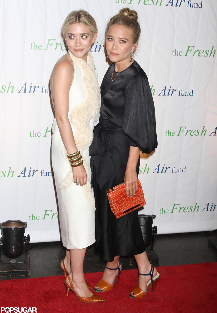 Mary-Kate Olsen and Ashley Olsen posed on the red carpet of the Fresh Air Fund's Spring Gala in NYC.