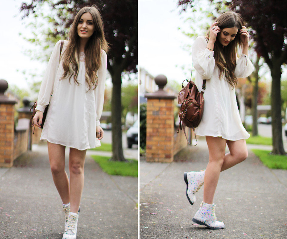 Opt for a more '90s vibe by styling Doc Martens with a babydoll-style LWD. It's a fun mix of grunge and girlie. Photo courtesy of Lookbook.nu