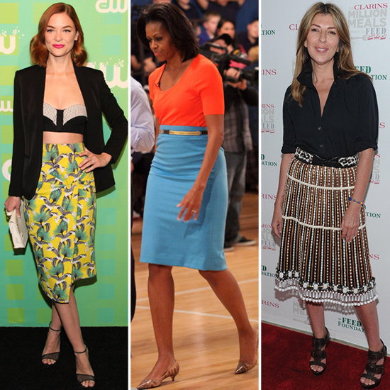 Check out six of the chicest celebrities in knee-length skirts to inspire your own ladylike style.