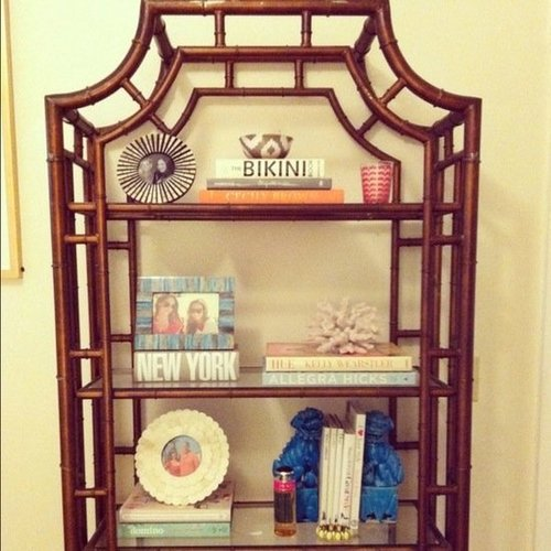 Colorful Bamboo Bookcase