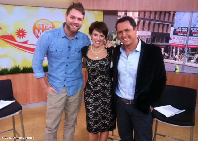 Dannii Minogue co-hosted The Morning Show with Larry Emdur and joked he was part of the new Australia's Got Talent judges line-up. Source: Dannii Minogue on WhoSay