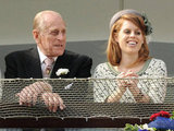 Prince Philip and Princess Beatrice shared a sweet moment.