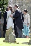 Kate Middleton, Prince William & Prince Harry Attend A Friend's Wedding