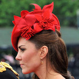 13. Kate Middleton's Red Floral Fascinator