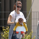Kristin Davis played at a park in LA with daughter, Gemma Davis.
