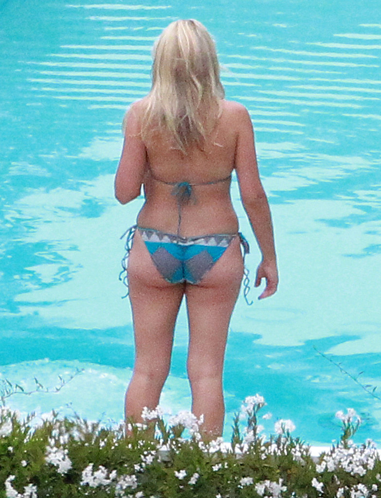 Busy Philipps wore a bikini by the pool.