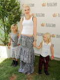 Gwen Stefani was accompanied by her sons, Kingston and Zuma, at the annual A Time For Heroes Celebrity Picnic in LA.