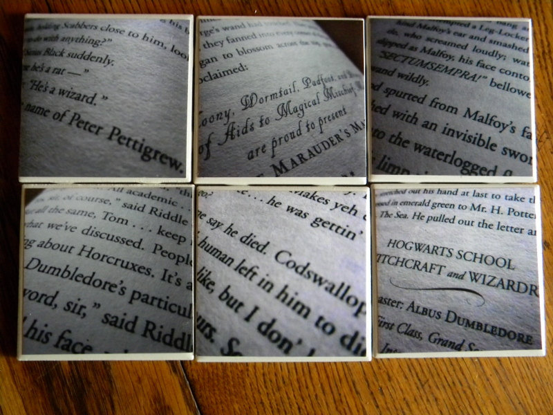 Book Page Coasters