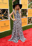 Donning one of her signature semisheer maxi dresses and floppy hats, Rachel Zoe was the picture of polo chic on Saturday.